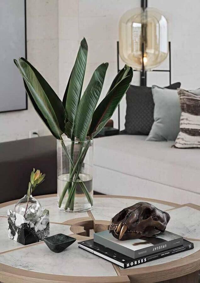 vaso decorativo para sala de estar moderna  Foto Pinterest