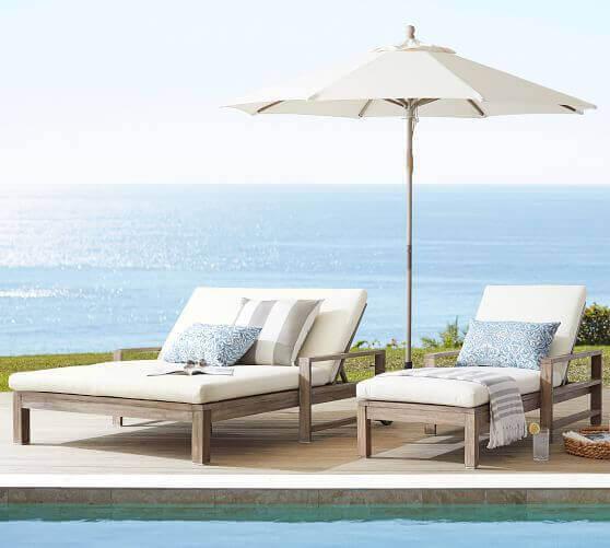 Conjunto de móveis para piscina