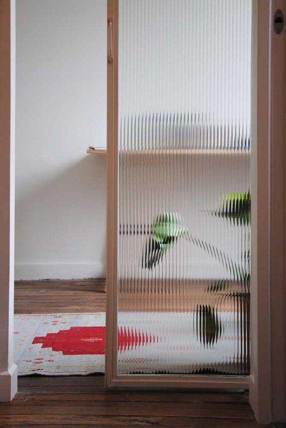 Divisórias para escritório de vidro canelado