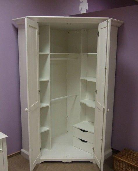 armário de canto - armário branco de canto simples