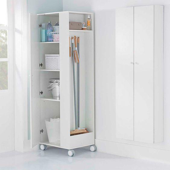 armário de canto - armário de canto branco com rodas