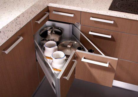 armário de canto - armário de canto de cozinha com portas duplas