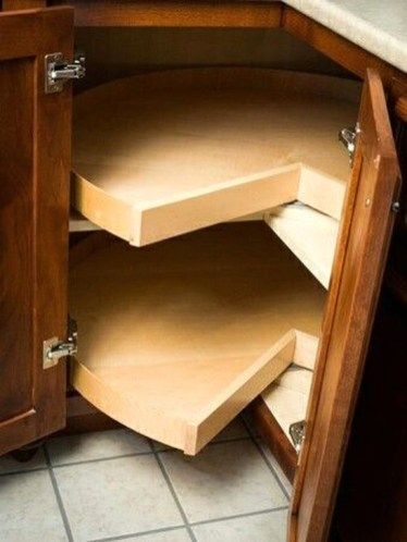 armário de canto - armário de canto de cozinha com prateleira giratória