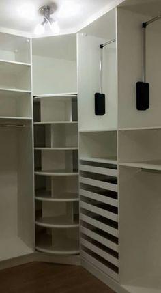 armário de canto - armário de canto simples com prateleiras giratórias