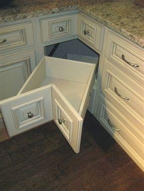 armário de canto - armário de cozinha branco com gaveta de canto