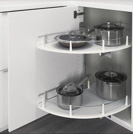 armário de canto - armário de cozinha de canto com prateleiras