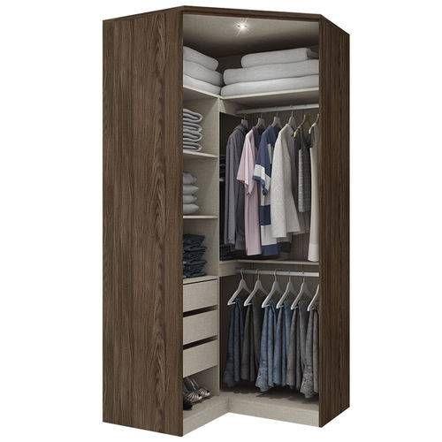 armário de canto - armário simples marrom clipe