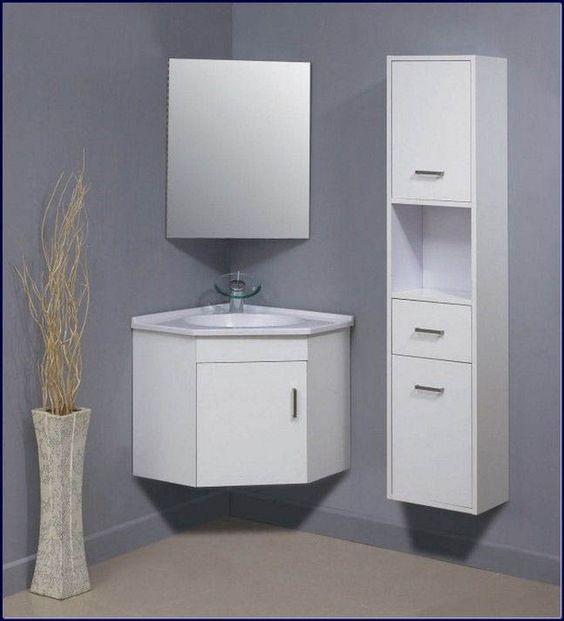 armário de canto - armários de canto de banheiro com espelho