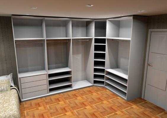 armário de canto - guarda roupa modular grande