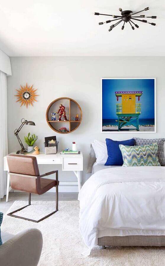 escrivaninha para decoração de quarto branco com escritório Foto Fashion Bubbles