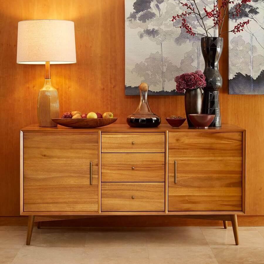 objetos de decoração para buffet de madeira Foto west elm