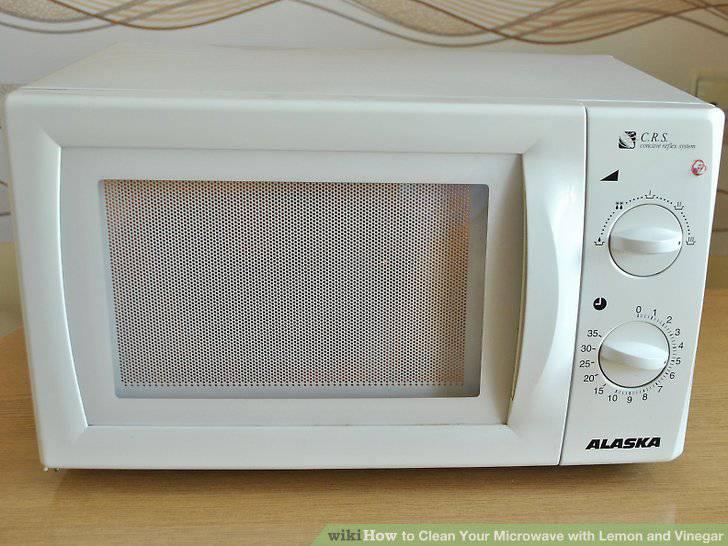 como limpar microondas aparelho fechado