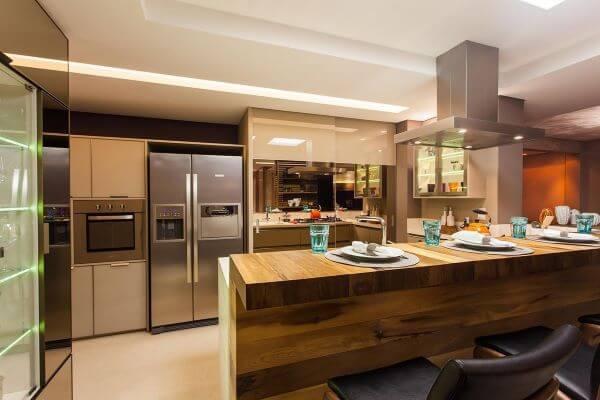 Como organizar geladeira na cozinha planejada e moderna