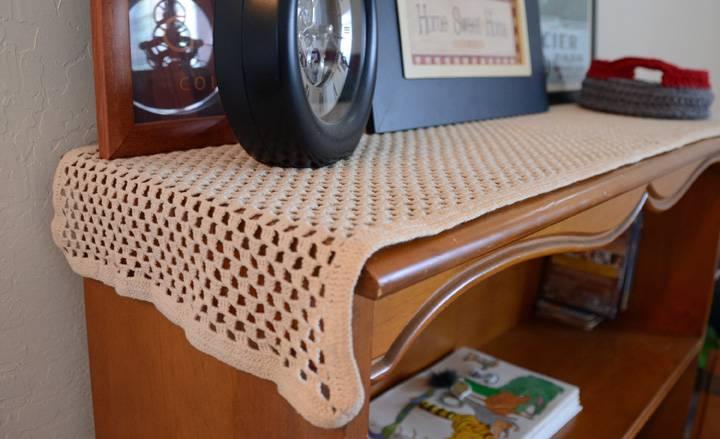 caminho de mesa de croche vintage