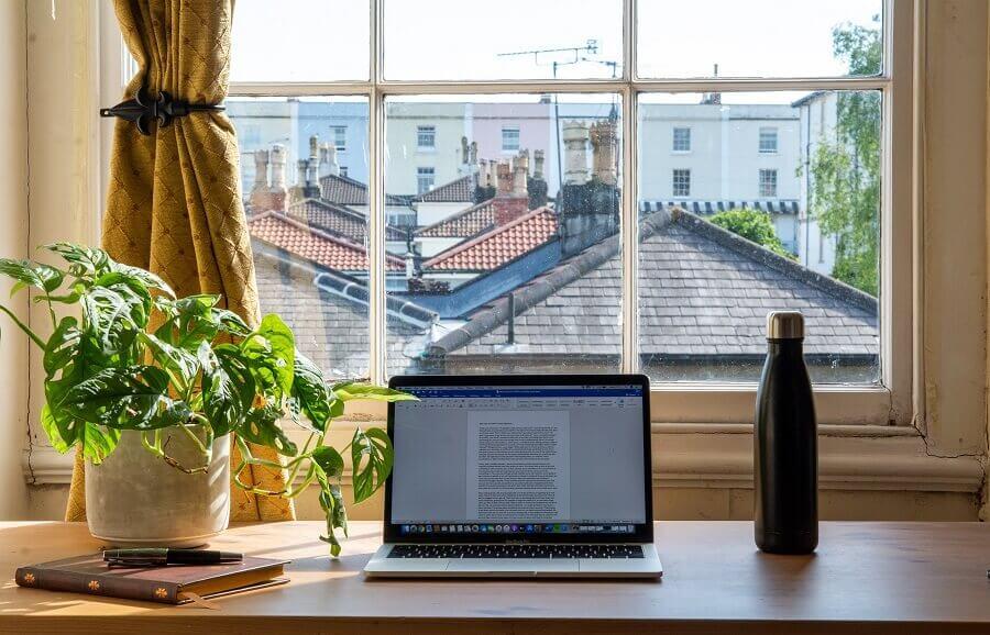 Vaso de planta para decoração de home office Foto Unsplash