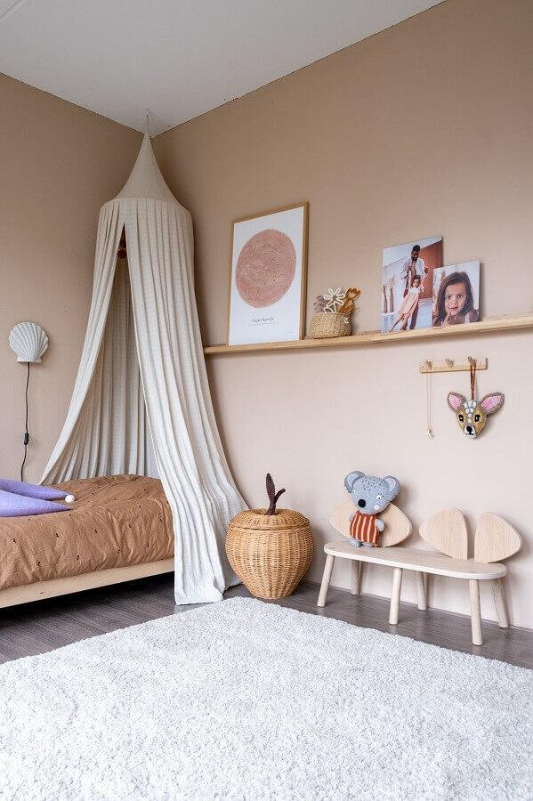 Decoração de quarto infantil simples com dossel de teto Foto Home Fashion Trend