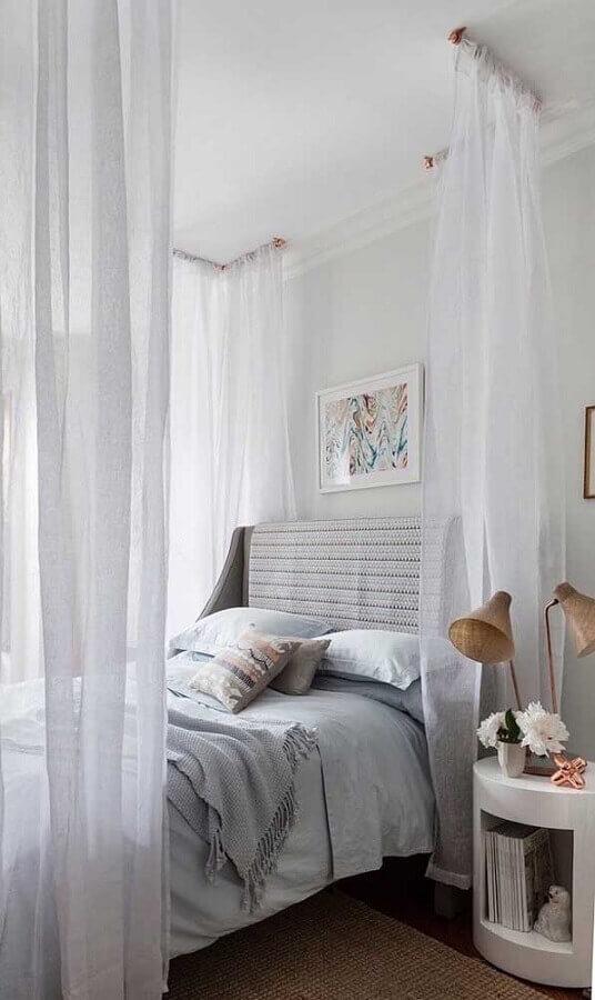 Dossel de teto com mosquiteiro para decoração de quarto de casal Foto Apartment Therapy
