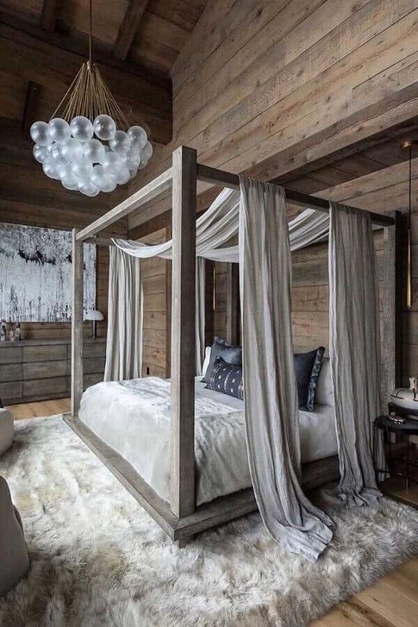 Dossel para camas de casal para decoração de quarto rustico Foto Behance