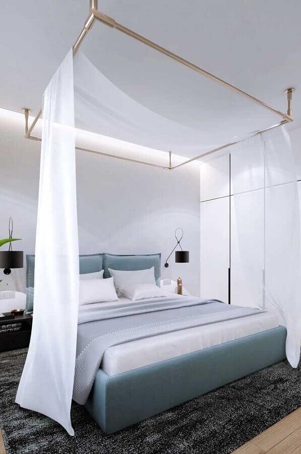 Dossel de teto com mosquiteiro para decoração de quarto de casal moderno Foto Houzz