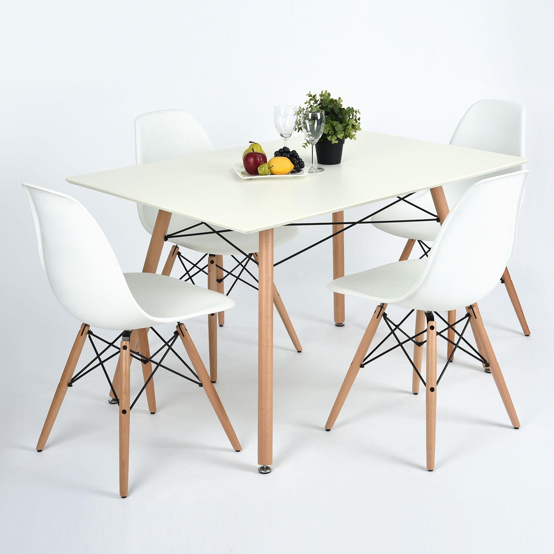Mesa eiffel retangular para sala de jantar estilo retro