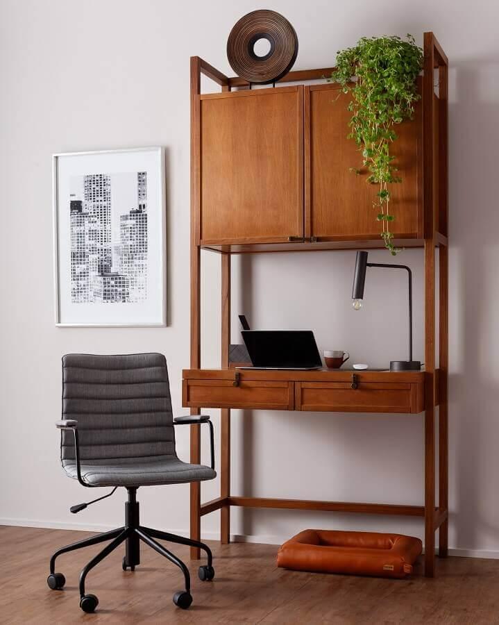 Tipos de mesas para escritório com armário Foto Tok&Stok
