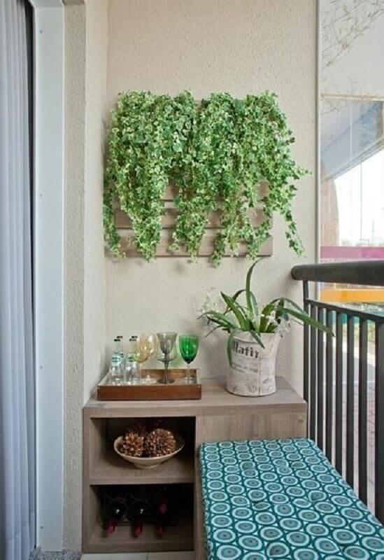 Barzinho planejado para decoração de varanda pequena Foto Adriana Fontana