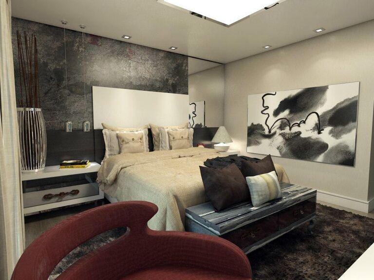 espelho para quarto - quarto com quadro