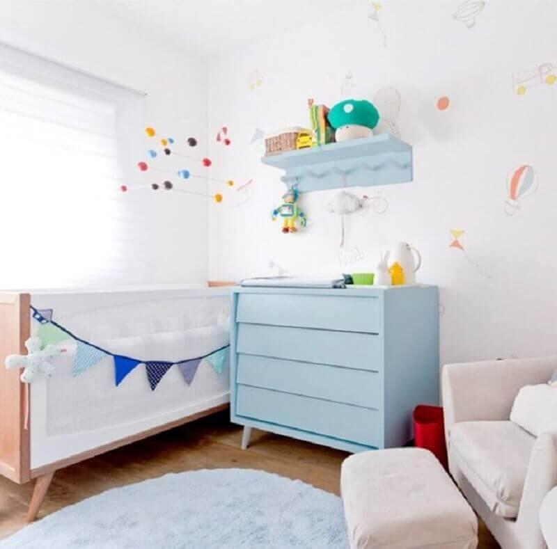Decoração clean com gaveteiro para quarto de bebê branco Foto Ameise Design