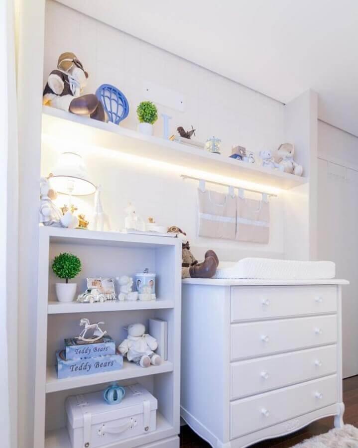 decoração clean com gaveteiro para quarto de bebê branco Foto Kids Arquitetura