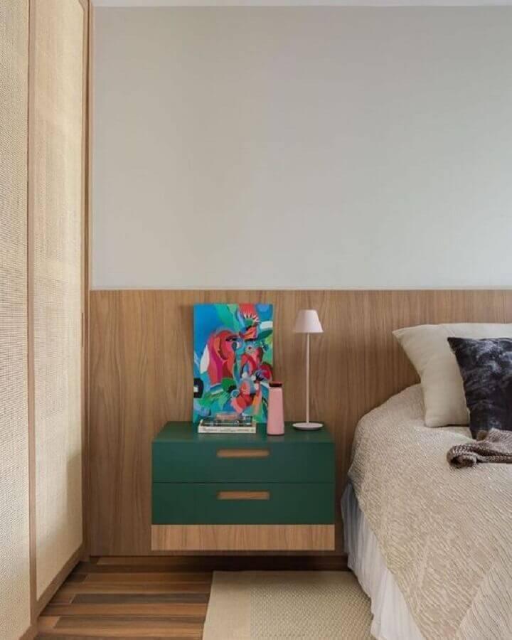 Gaveteiro para quarto decorado com moveis planejados Foto Duda Senna