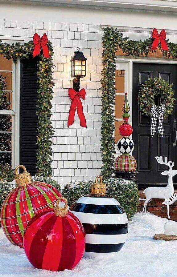 Cortina de luzes de Natal para decoração de mesa de ceia natalina Foto Decor Fácil