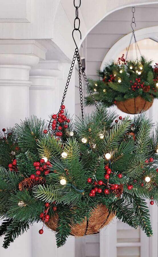 Ideia de decoração com enfeites de Natal com luzes Foto Ateliê Revestimentos