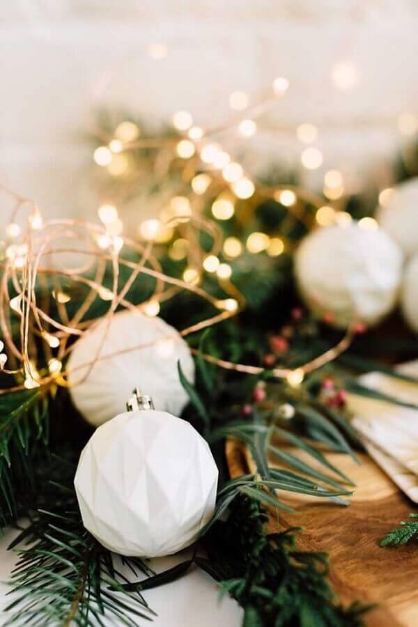 Luzes de Natal para decoração de arranjo de mesa Foto Divina Haus