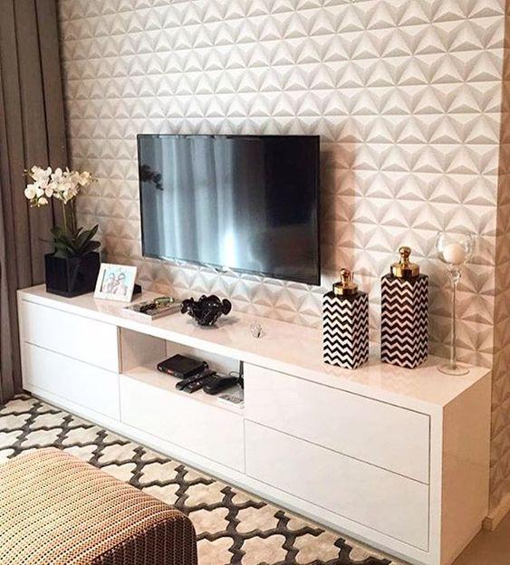 papel de parede 3d - painel de tv em papel de parede 3d