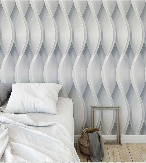 papel de parede 3d - papel de parede 3d em quarto