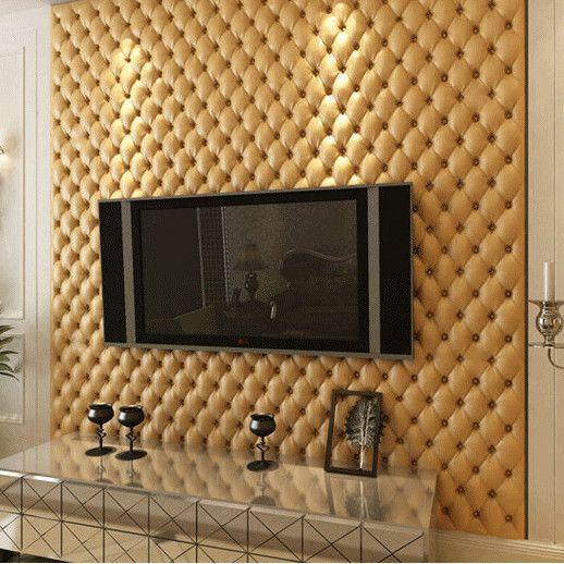 papel de parede 3d - papel de parede 3d que imita estofado