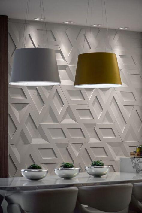 papel de parede 3d - papel de parede 3d vazado em sala de jantar