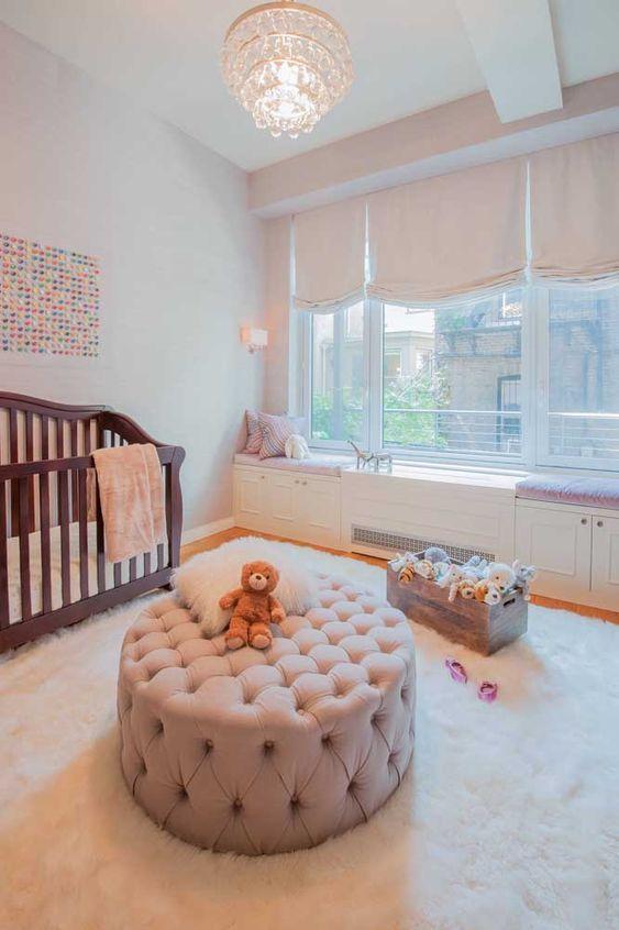 puff redondo - puff redondo em quarto infantil