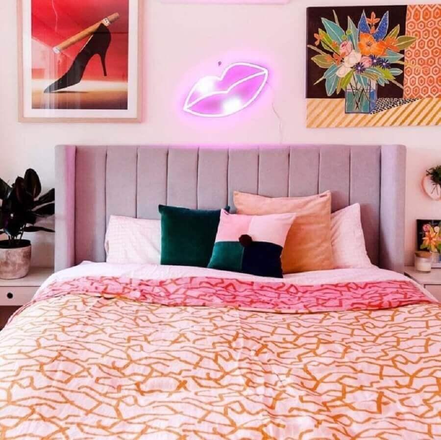 Almofadas para cama para decoração de quarto colorido de casal Foto Electric Confetti
