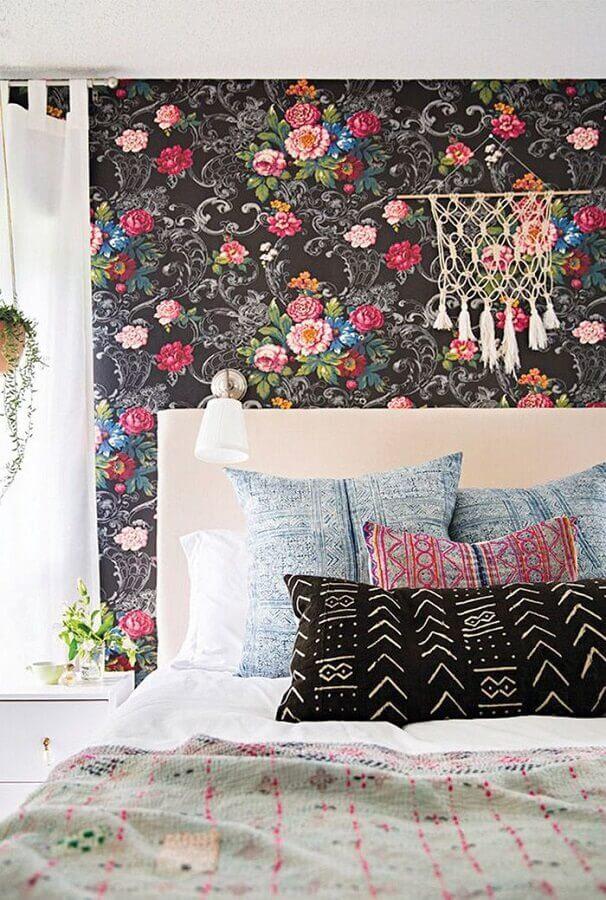 Papel de parede colorido para decoração de quarto colorido de casal Foto The Ofy